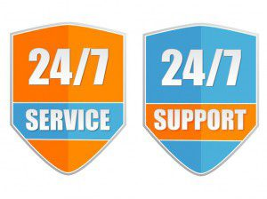 24/7 service and support sign