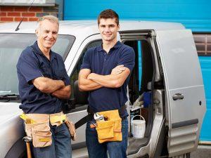 service technicians by van