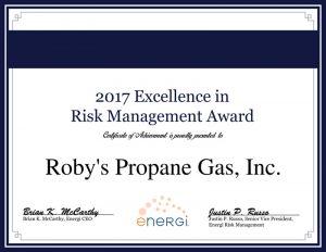 roby's propane gas award